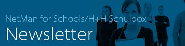 Die NetMan for Schools Newsletter Header-Grafik